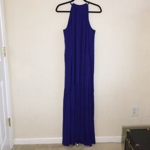 Maxi summer dress in eclectic blue color
